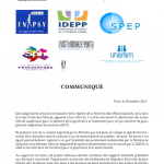 GHT : COMMUNIQUE DU 30.10.2015