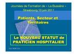 Le NOUVEAU STATUT de PRATICIEN HOSPITALIER