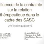 Influence de la contrainte sur la relation thérapeutique dans le cadre des SASC