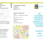 DPC EVALUATION DE L'ORGANISATION DES CMP ET DU PARCOURS DE SOINS EN PSYCHIATRIE SECTORISÉE
