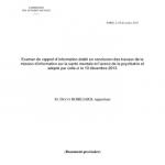 Examen du rapport d'information établi en conclusion des travaux de la mission d'information sur la santé mentale et l'avenir de la psychiatrie et adopté par celle-ci le 10 décembre 2013