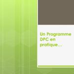 Un programme DPC en pratique